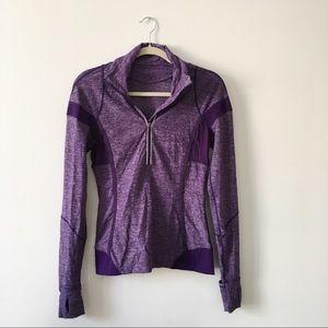 Purple jogger's pullover